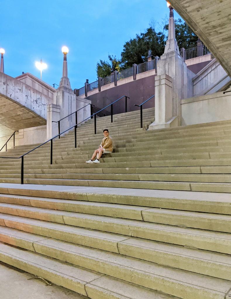 Sitting in the City Sidewalks
